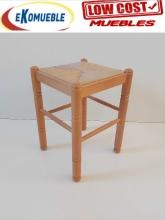 Taburete de Cocina de Madera Ref.321 madera asiento anea sintetica
