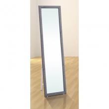 Espejo de pie color negro.  Altura 146,5cm x Ancho 38,5cm x Fondo 30,5cm