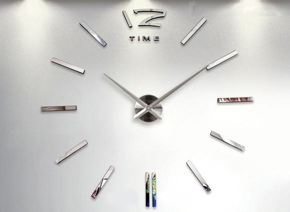 Reloj pared adhesivo plata envios en 72 horas - Relojes grandes pared ...