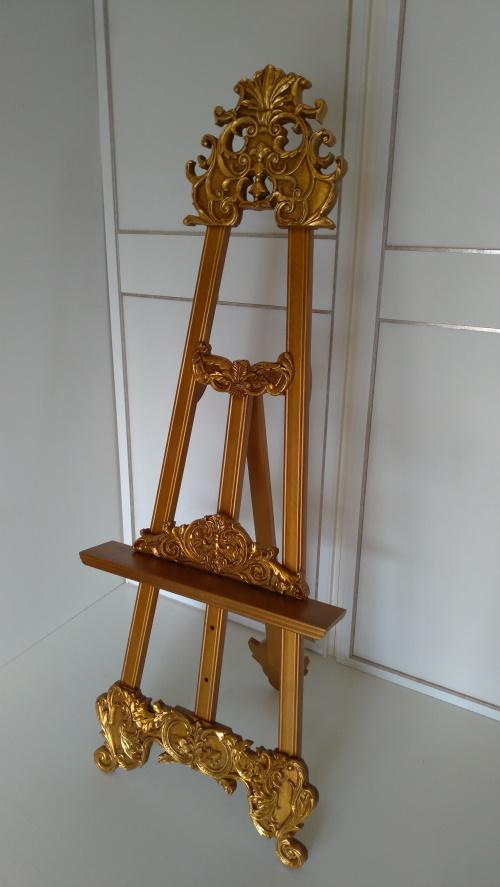 Atril de pie, soporte atril dorado alto 147 cm,