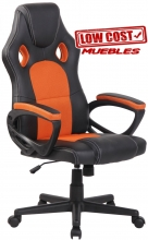 SILLA GAMING SPORT RACING ALONSO RX NEGRO NARANJA