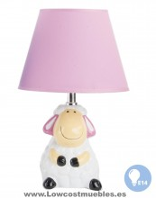 LAMPARA INFANTIL  GOOD NIGHT FORMA DE OVEJA ROSA, AHORA LOS ENVIOS EN 72 HORAS