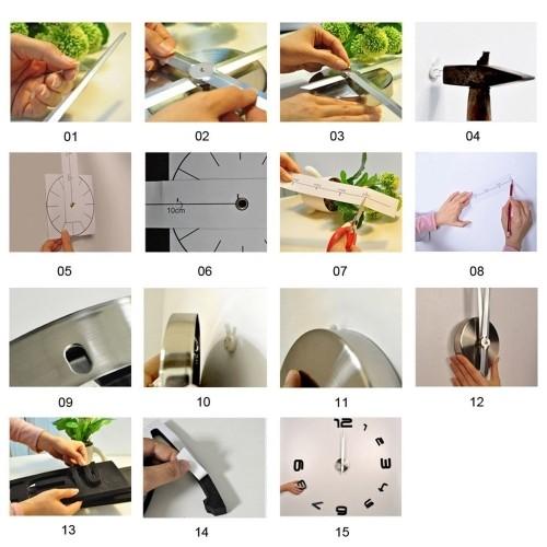 reloj pared adhesivo envios gratis en 48 - 72 horas